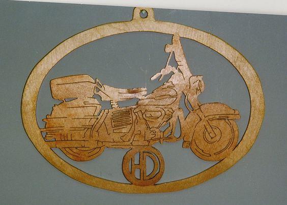 Handmade Custom Scroll Saw Fret Wooden Motorcycle Wall