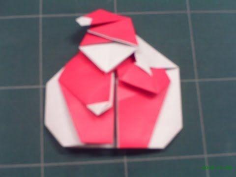 折り紙の折り方 サンタクロース1 - YouTube