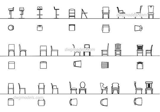 Eames lounge chair autocad block