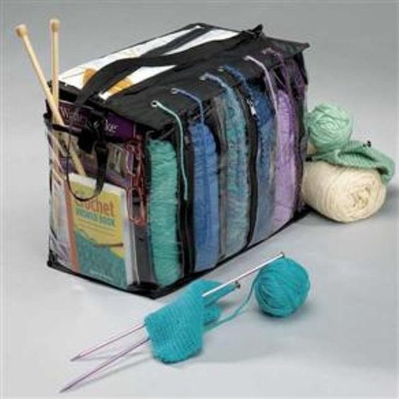 Knitting Organizer Michaels : Yarn organizer tote bag knitting