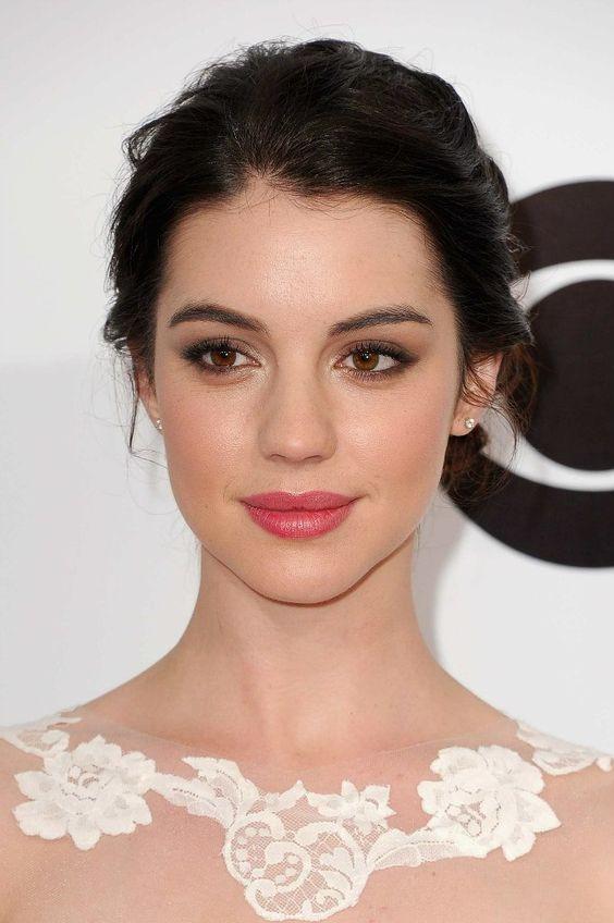 feminine, rosy, makeup, beautiful | Adelaide Kane: