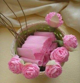 Rosas de papel crep paso a paso para hacer en casa tes - Manualidades para hacer en casa ...
