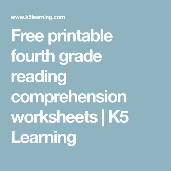 Free Printable Fourth Grade Reading Comprehension Worksheets K5 Learning Reading Comprehension Worksheets Reading Comprehension Comprehension Worksheets