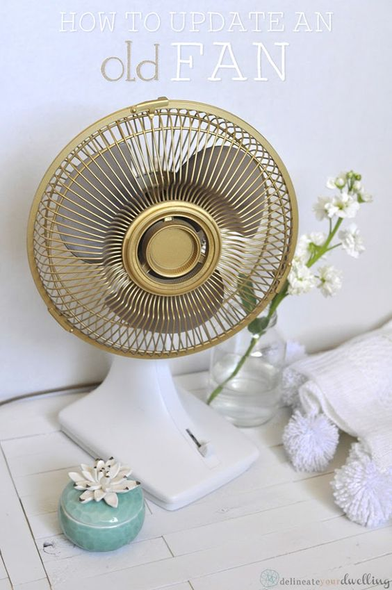 This is brilliant. How to update an old Fan with simple and quick painting! Delineateyourdwelling.com
