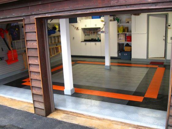 Cool garage ideas basement garage design man cave for Cool garage floors