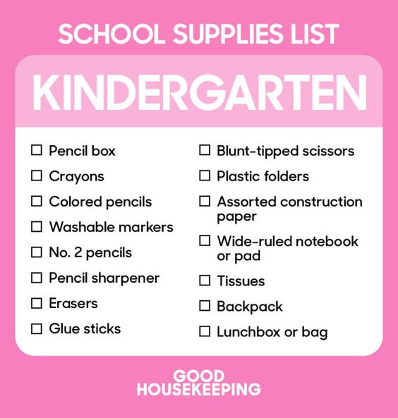 The Ultimate Back-to-School Shopping Lists From Kindergarten to College  - GoodHousekeeping.com