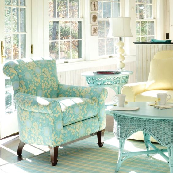 cottage living room furniture turquoise furniture and blue yellow on 12690