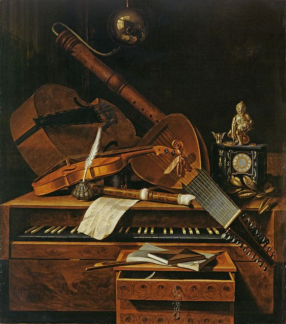 Violin Painting - Still Life With Musical Instruments by Pieter Gerritsz van Roestraten