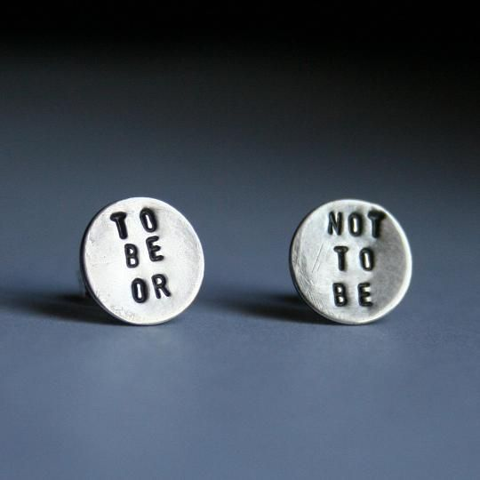 Love these!!!   These studs are for the lady who always dreamed of playing Ophelia.