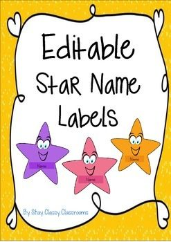 Editable Star Name Labels The Tags And