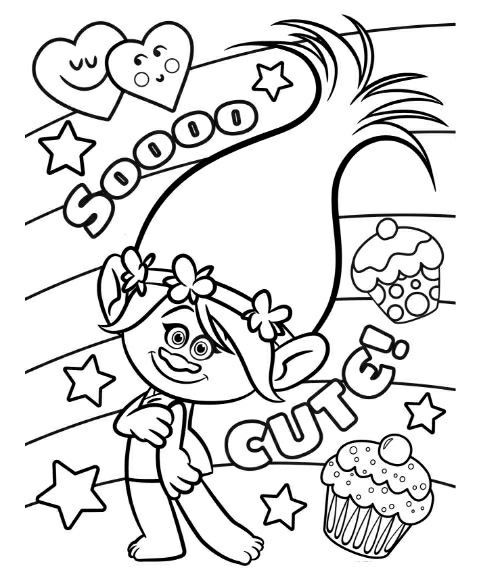 24 Poppy Trolls Coloring Page In 2020 Cartoon Coloring Pages