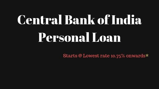 Personal Loan Personal Loans Central Bank Bank Of India