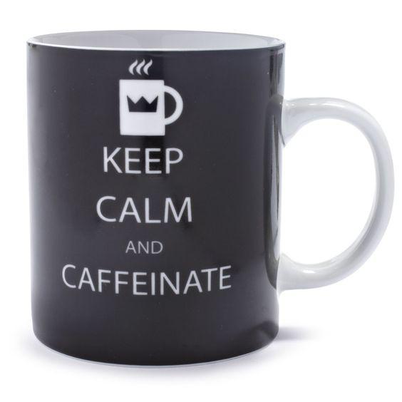 Keep Calm And Caffeinate Mug | Sur La Table