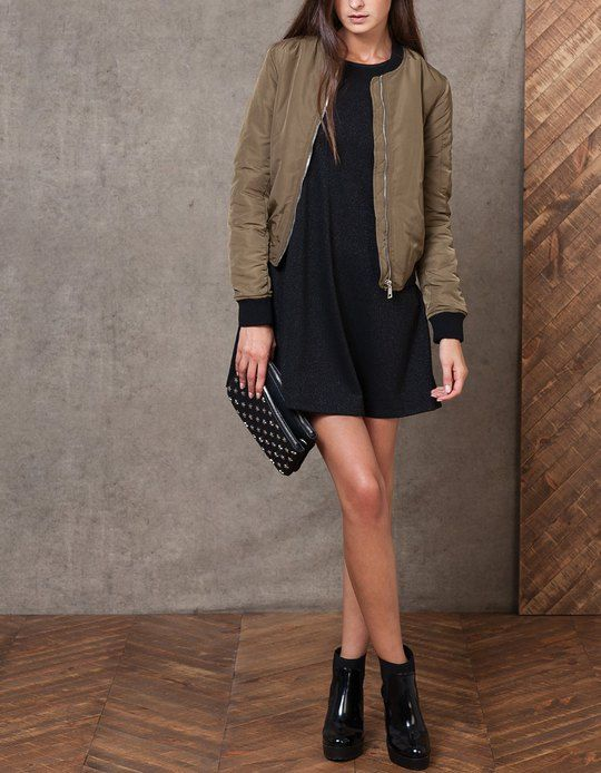 blouson bomber vestes femme stradivarius france jolies tenues pinterest. Black Bedroom Furniture Sets. Home Design Ideas