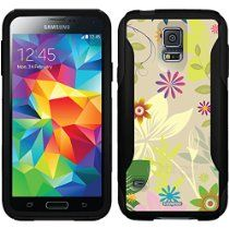 Flower Jungle Multicolor design on a Black OtterBox Commuter Series Case for Samsung Galaxy S5 //  Description This Otterbox Commuter Series case is compatible with the Samsung Galaxy S5. Designs include, one-of-a-kind animal prints, polka dots, retro, hi