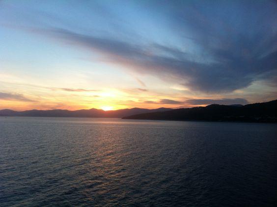 Sunset, split- ancona!