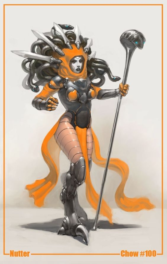 Warrior gorgon in ba...