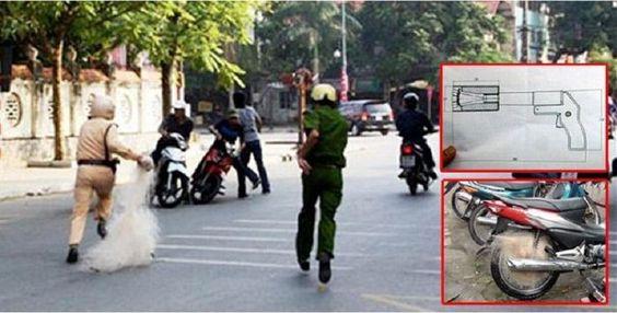 Lucu Tapi Efektif, Alat Ini Dipakai Polisi Vietnam Buat Meringkus Pembalap Liar