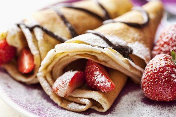 Sugar Pancakes Strawberries