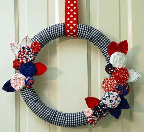 Homemade 4th Of July Decorations   Homemade 4th of July Decorations, Patriotic Wreaths