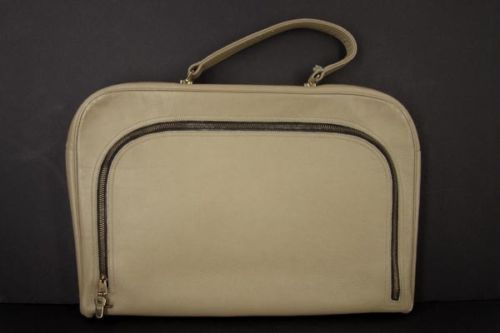 COACH-Bonnie-Cashin-Rare-Vintage-Attache-Briefcase-Hand-Bag-Mexican-Stripe