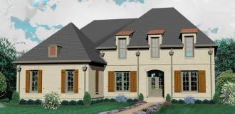 #654006 - One and a half story 4 bedroom, 4.5 bath french country style house plan : House Plans, Floor Plans, Home Plans, Plan It at HousePlanIt.com