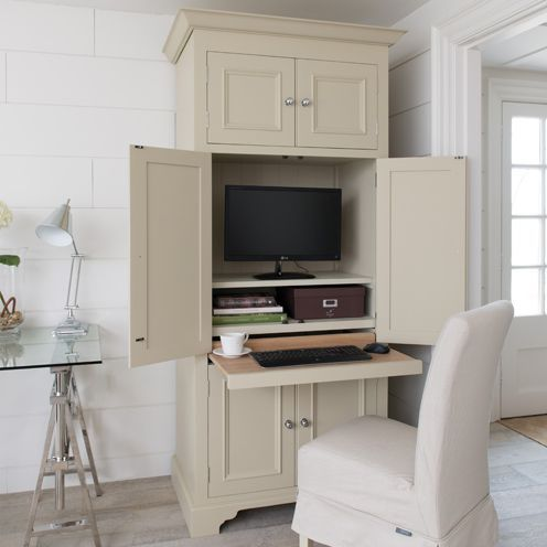 10 Storage Furniture Solutions For Your Home Desk In Living Room Home Office Cabinets Home Office Closet