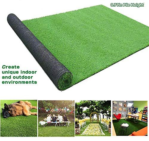 Moxie Direct Realistic Artificial Grass Mat 4 Tone 0 8in 20mm Blade Height 13ft X 82ft 1066 Square Ft Garde In 2020 Artificial Grass Mat Artificial Grass Faux Grass