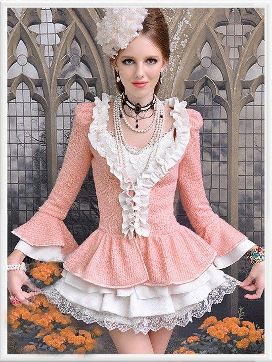 Morpheus Boutique  - Pink Ruffle Knit Long Sleeve Button Down Jacket , $48.99 (http://www.morpheusboutique.com/pink-ruffle-knit-long-sleeve-button-down-jacket/)