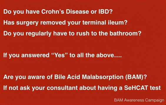 Bile Acid Malabsorption. I have it and I have not had my terminal removed.