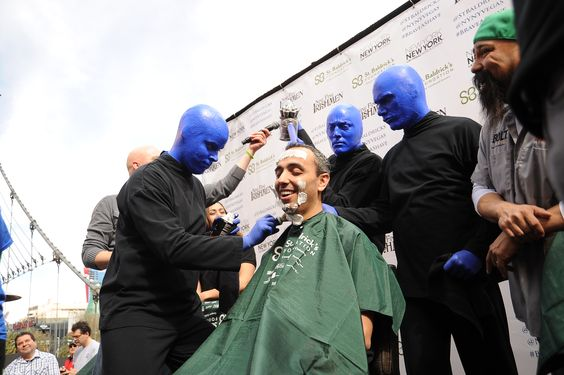 Blue Man Group getting involved #BraveaShave
