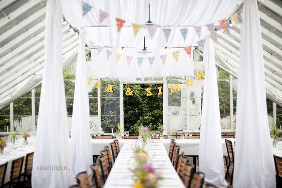 bröllopsmottagning växthus mingel