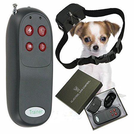 4 In 1 Remote Small Med Dog Training Shock Vibrate Collar Trainer
