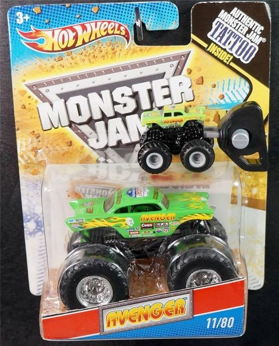 hot wheels lot of 2 monster jam monster trucks green avenger 1 64 mighty mini hotwheels http. Black Bedroom Furniture Sets. Home Design Ideas