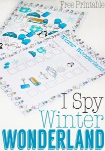 Free I Spy Winter Wonderland Printable