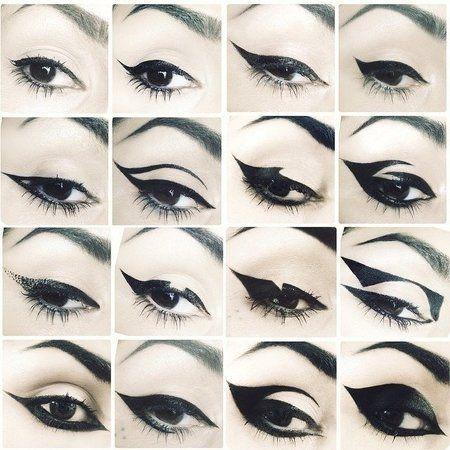 16 Different Eye Liner Styles #katvond #eyeliner looks # ...