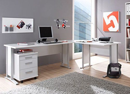 Office Line Winkelkombination Schreibtisch In Weiss Eckschreibtisch Info De In 2020 Eckschreibtisch Winkelschreibtisch Grosser Schreibtisch
