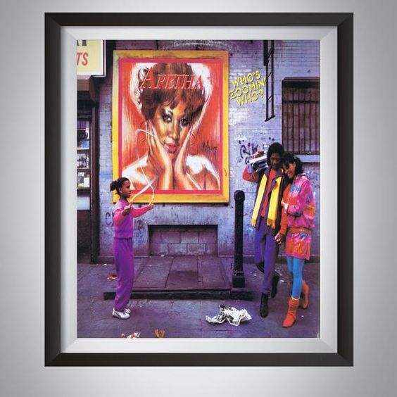 Aretha Franklin Who S Zoomin Who Album Cover Poster Giclee