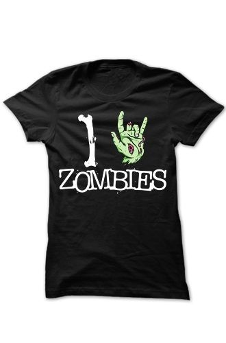 Goodie Two Sleeves - I Love Zombies T-Shirt