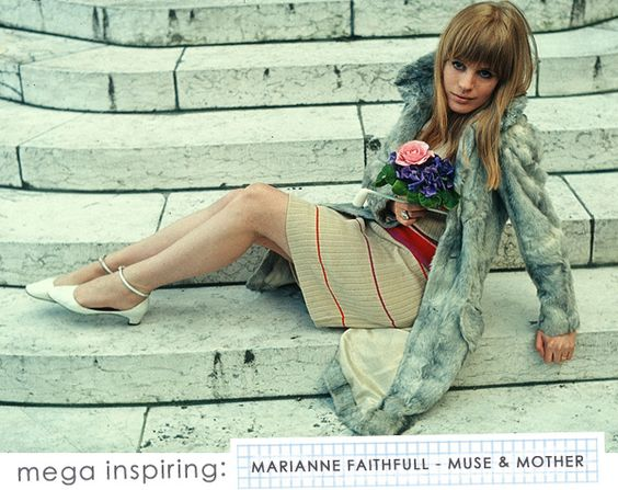 Style Icon: Marianne Faithfull via Making Nice in the Midwest