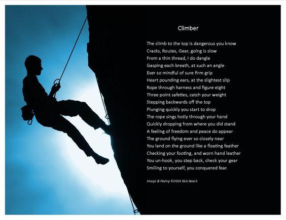 Climber poetry