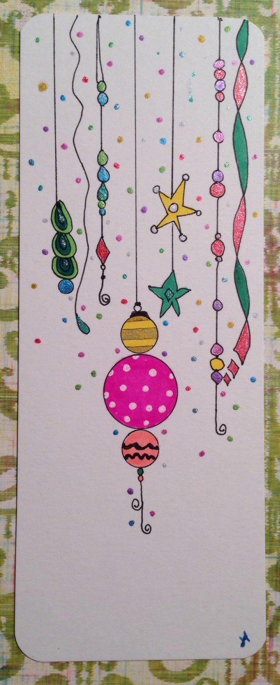 Christmas ornament dangle doodle.  Artist: Joanne Allen