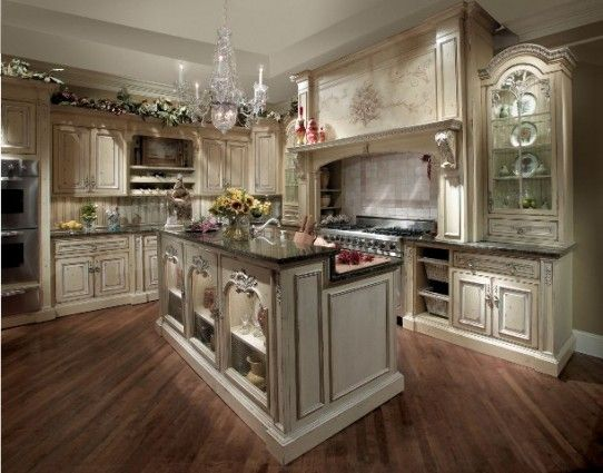 Rustic, yet elegant, English country kitchen