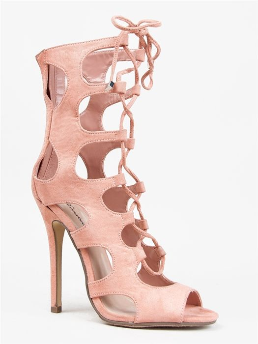 Breckelle&39s ROMA-21 Lace Up Gladiator Heels | Shoes | Pinterest