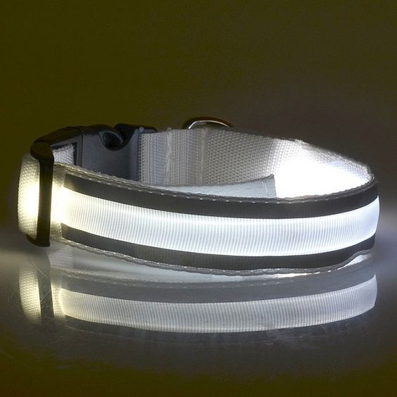3.69$  Watch here - http://di59m.justgood.pw/go.php?t=186533908 - Fashion LED Luminous Outdoor Supplies Stripe Design Collar For Dogs 3.69$