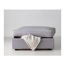 kivik repose pieds av rangement orrsta gris clair lisse gris et mousse. Black Bedroom Furniture Sets. Home Design Ideas