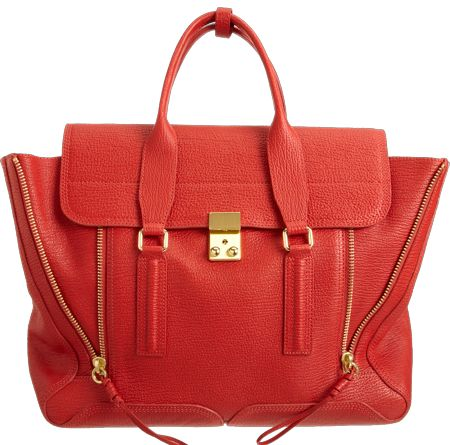 3.1 Phillip Lim Pashi Satchel in Red