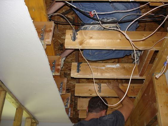 how to install a flush lvl beam to replace load-bearing ...