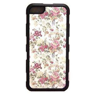 【ロサンゼルスのヴィンテージ 花柄 Vintage Floral IPHONEケース 】iPhone5sケース iPhone5ケース ・(5/5s両方使えます )iphoneケース 側面 ラバー ブラック 花