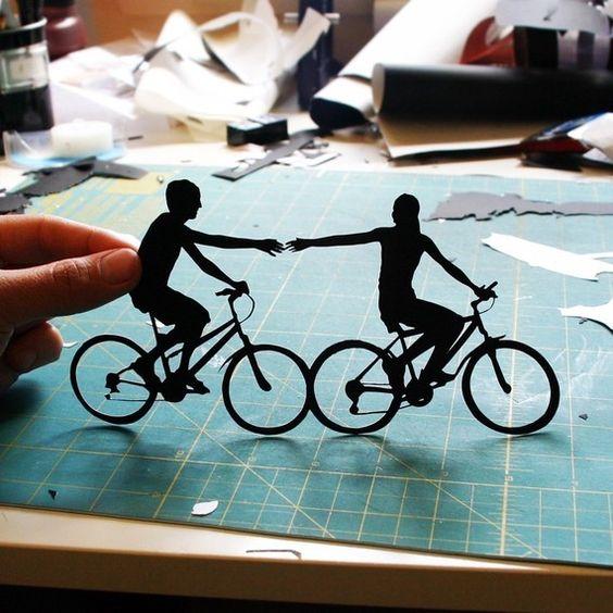 Couple portrait papercut